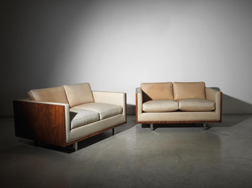 Baughman MiloTwo Lounge Sofas, designed by Milo Baughman in around 1960, for Tha…