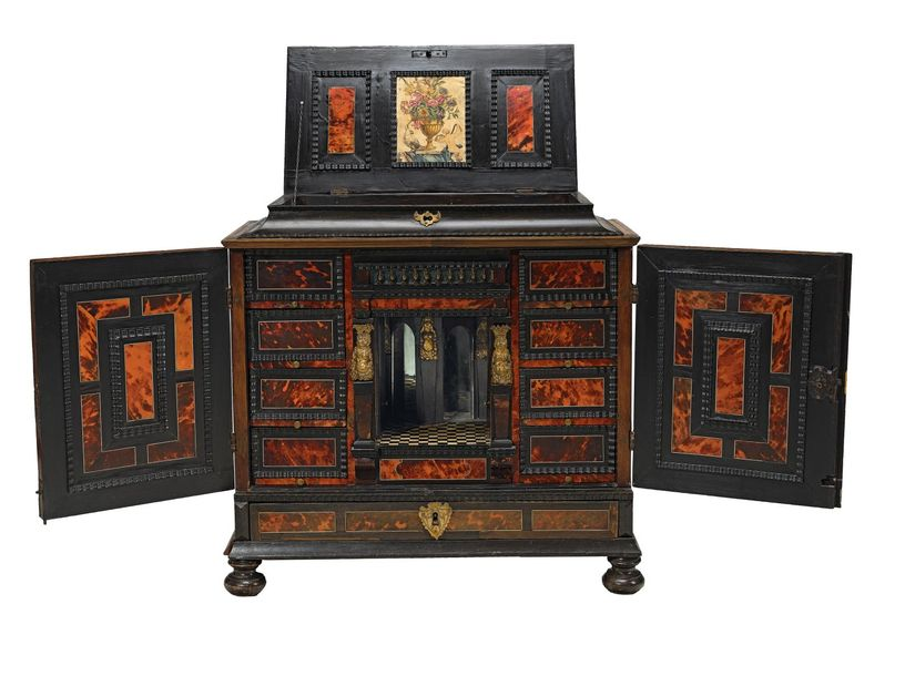 An Early Baroque Cabinet, Flanders late 17th/early 18th century, hardwood frame,…