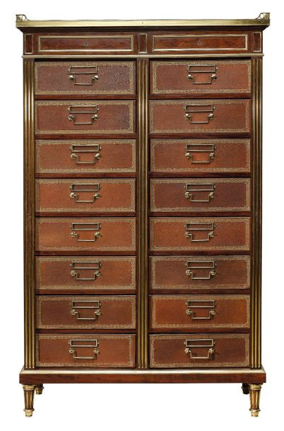 A Tall Filing Cabinet in Louis XVI style, so called 'cartonnier', produced by MA…