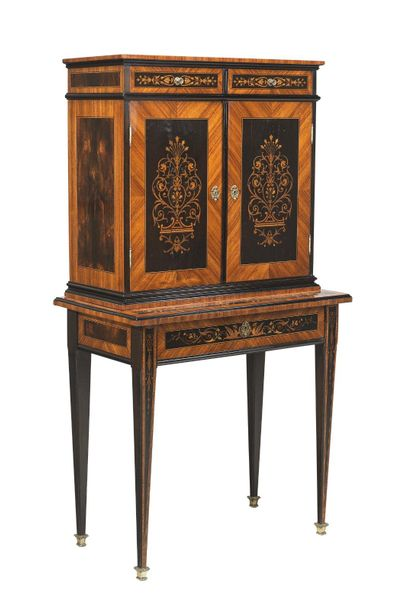 A Neo Classical Cabinet on Chest, Italy, modified Neo Classical style, c. 1900, …