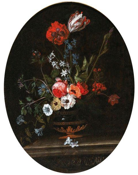 Jacques Samuel Bernard (France, active in the 17th Century) A vase of flowers, o…