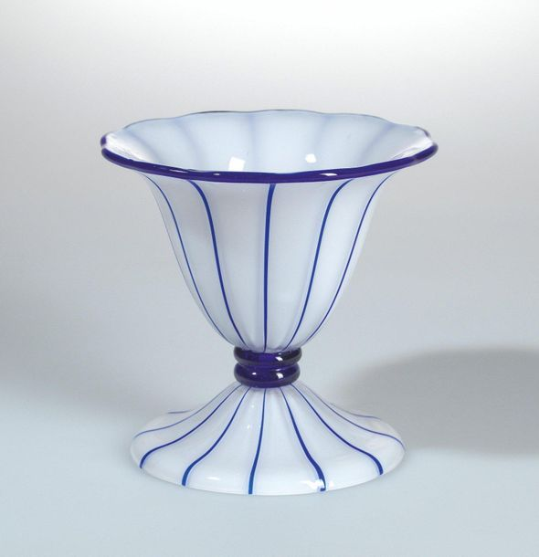 Michael Powolny, a vase with foot, designed in 1914, commissioned by Österreichi…