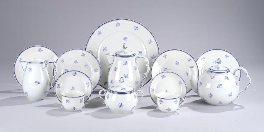 Michael Powolny, a 32 piece tea and coffee service, form 2, designed c. 1925/26,…