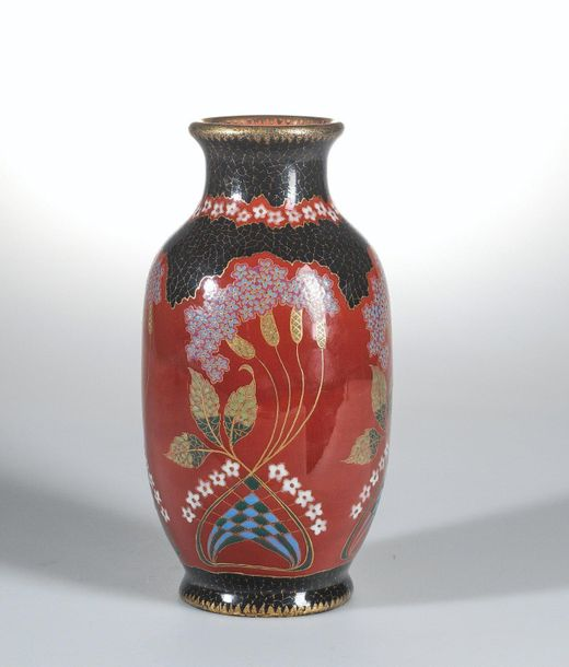 Emil Fischer (Hungary 1863 1937), a vase with East Asian decor, Budapest, c. 190…