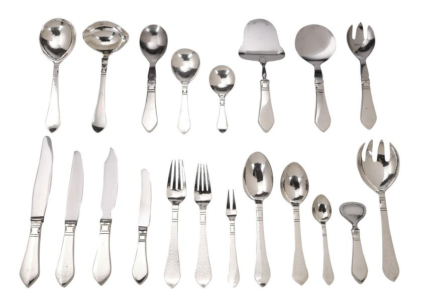 Georg Jensen, a silver cutlery set for 14 persons (112 pieces), model: ANTIK/CON…