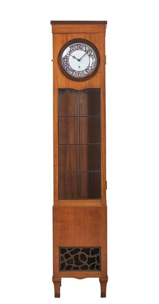 A large longcase clock with dial by Adelbert Niemeyer, executed by Porcelain Man…