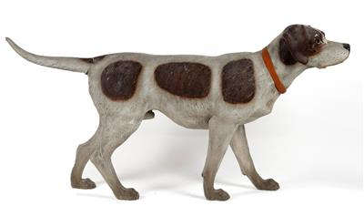 A Hunting Dog, Johann Maresch, Aussig on the Elbe, Late 19th Century terracotta,…