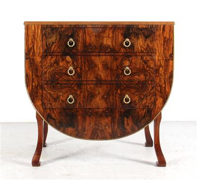 An Unusual Chest of Drawers in the Shape of a Cradle, c. 1920/30, hard and softw…