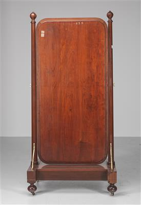 A Tall Dressing Mirror, so called psyche or cheval glass, Holland, mid 19th cent…