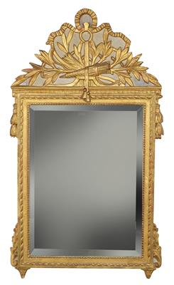 A Salon Mirror, France, Louis XVI period, c. 1780, moulded softwood frame, with …