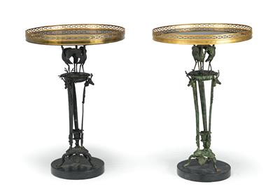 2 Slightly Different Historicist Tables, so called guéridon, Naples, second half…