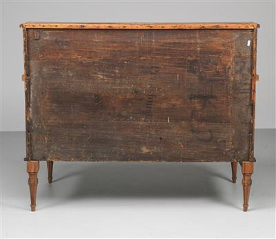 A Rolltop Desk, so called cylinder secretary desk, end of the 18th century, pine…