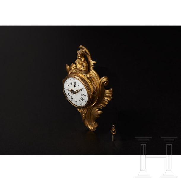 A small Louis XV mantel clock with a pocket watch movement, Paris, 18th century …