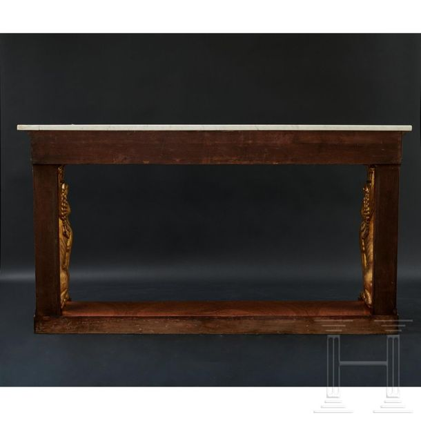 An imposing Charles X console in the style of F.H.G. Jacob Desmalter, Paris, cir…