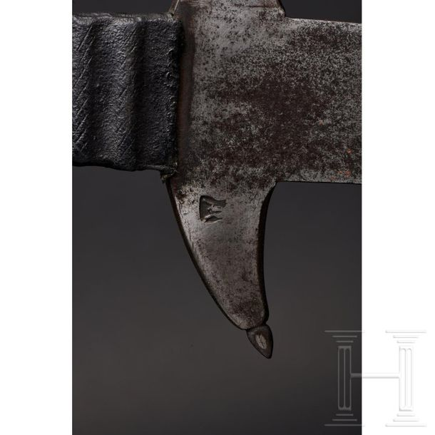 A large South German two hand flamberge, circa 1580 Sturdy, double edged blade w…