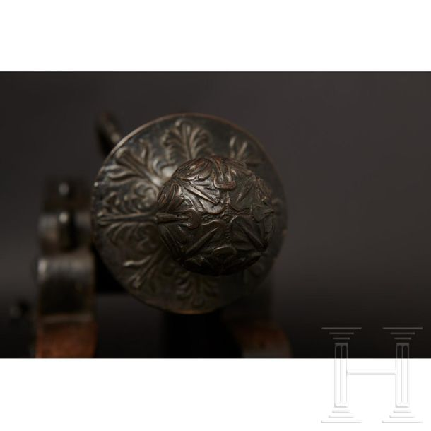 A distinguished pair of Neapolitan bronze saluting cannons from the estate of Gi…