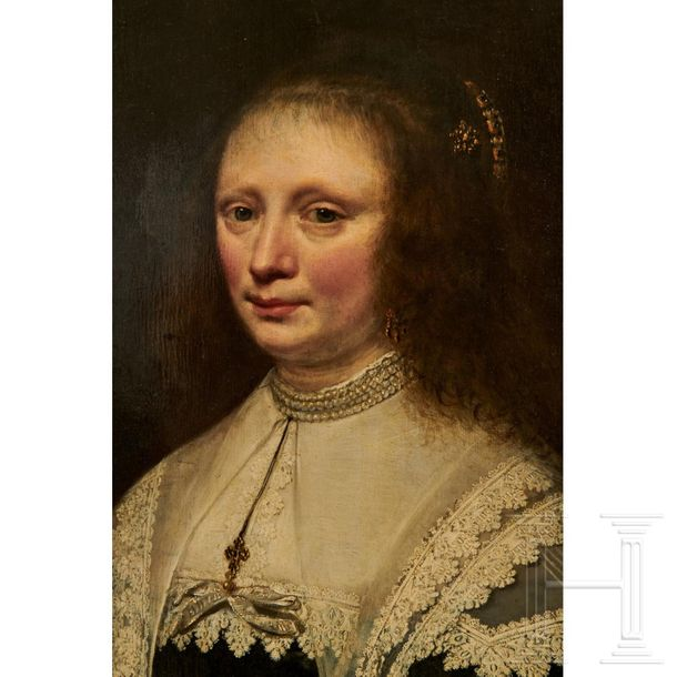 A Dutch portrait of a noblewoman, 17th century  Half length portrait of a Dutch …