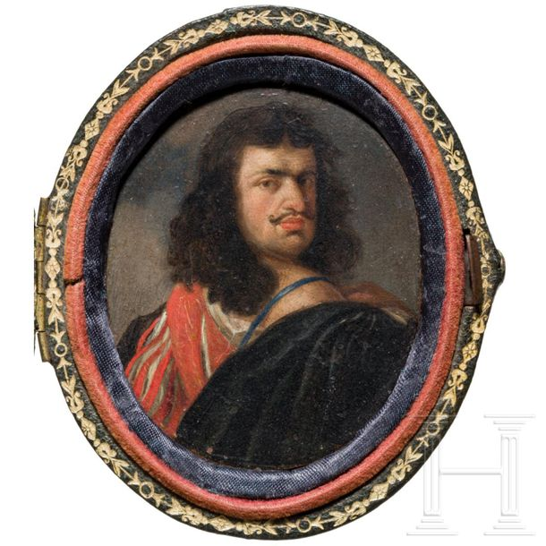 Gonzales Coques (Antwerp 1614 1684) a miniature painting, probably a portrait of…