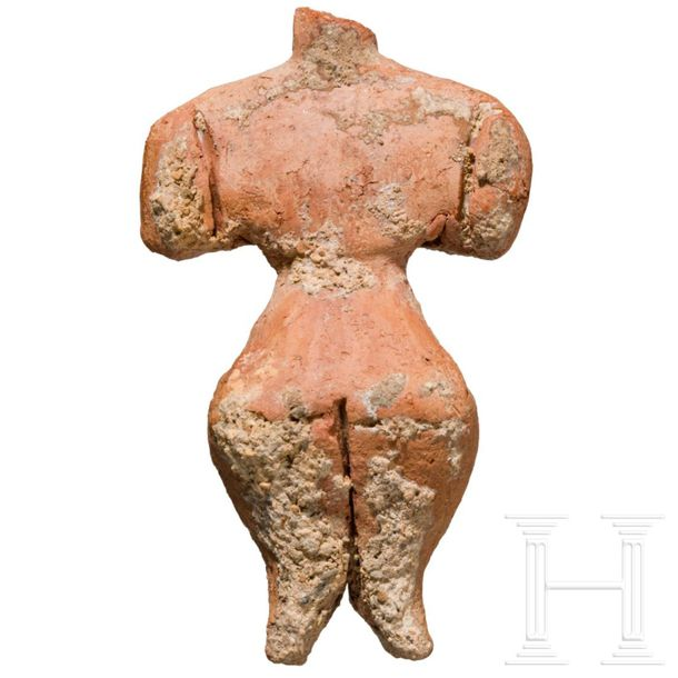 An impressive Hungarian Neolithic Venus idol, terracotta, Körös culture, 4th mil…