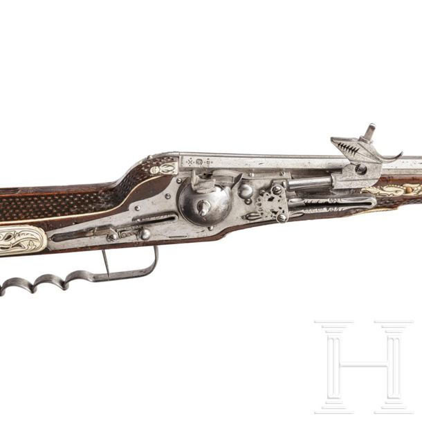A military wheel lock rifle by Balthasar Dressler in Dresden, dated 1596 Octagon…