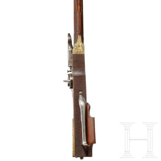 A South German wheellock rifle from the armoury of the princes of Salm Reiffersc…