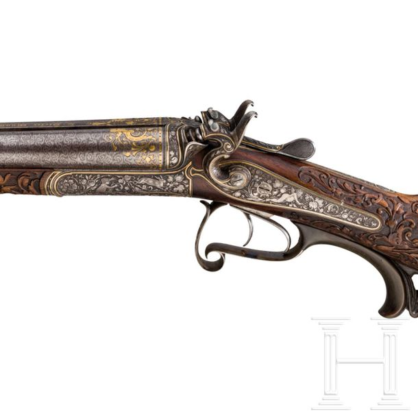A luxury side by side shotgun L. Dieter, Munich, from the estate of Prince Ludwi…