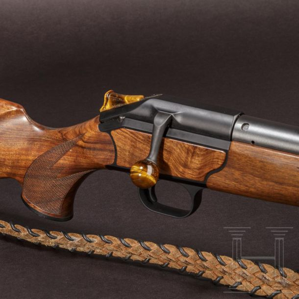 A Blaser R 93 bolt action rifle, with Swarovski scope Cal. .375 H&H, SN. 9/45468…