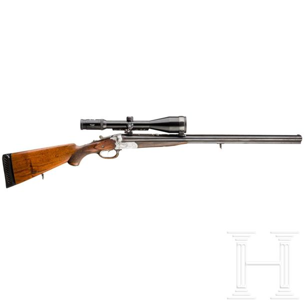 A pre war three barrel rifle shotgun, Suhl Cal. 9,3X72R, SN. 2392, Kal. 9,3x72 R…