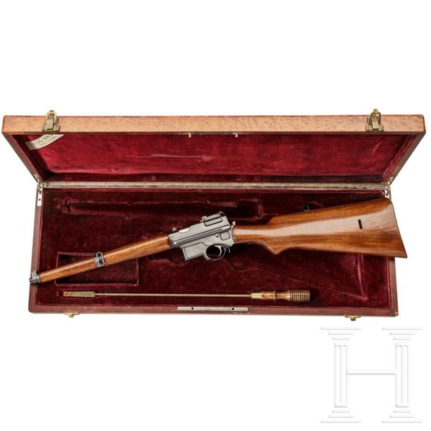 "A Mannlicher system semi auto ""pistol carbine"" M 1897/01, demo gun for exports t…"
