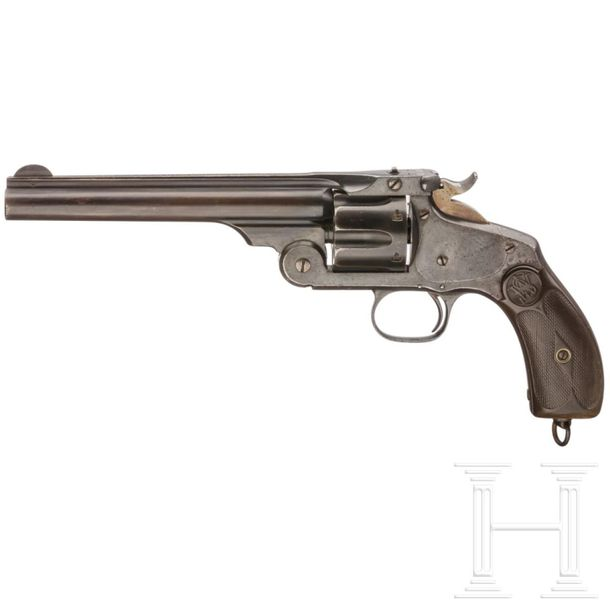 Smith & Wesson New Model No. 3 Revolver Cal. .44 S&W Russ, SN. 065P, Blanker 6 1…