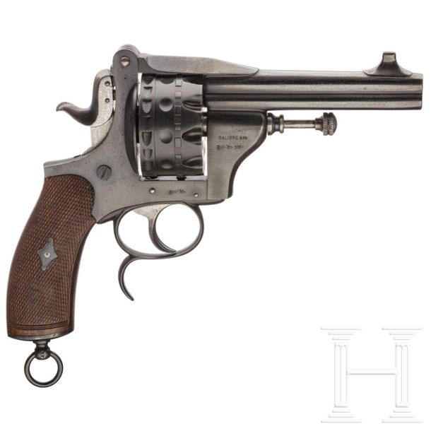 "HDH Revolver, 20 schüssig (""Machine gun HDH"") Cal. 6,35 mm Brown., SN. 12, Numme…"