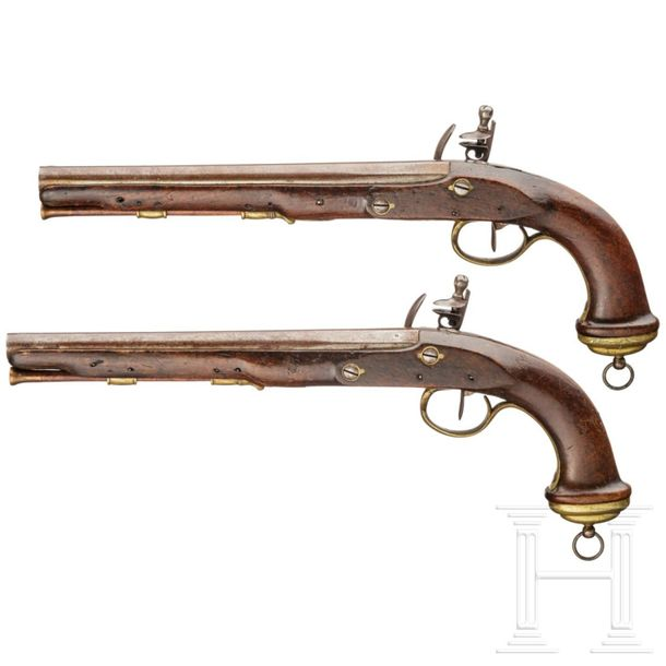 A pair of pistols for mamluk officers of the Imperial Guard, circa 1800 Smooth b…