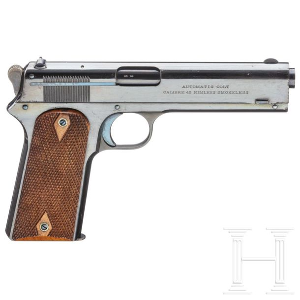 A Colt Model 1905 .45 Automatic Pistol, British Contract Cal. .45 ACP, SN. 3445,…