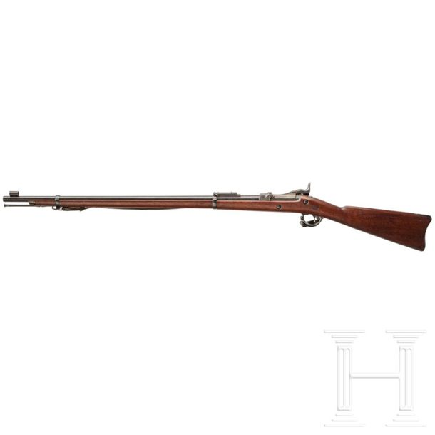 """A Springfield Model 1884 """"Trapdoor"""" infantry rifle Cal. .45 70 Gov., SN. 448777,…"""