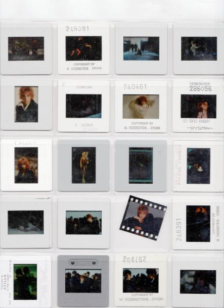 Mylène Farmer Ensemble de 5 planches diapositives (environ 95 photos d'origine)…