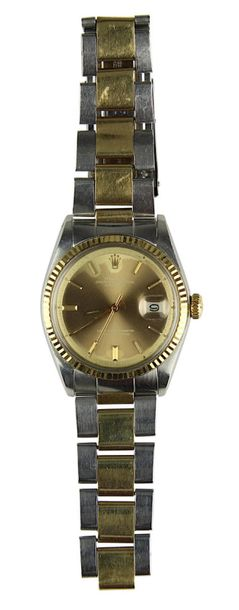 Rolex Herrenarmbanduhr, Stahl / Gold, Modell Rolex Oyster Perpetual Datejust, Sc…