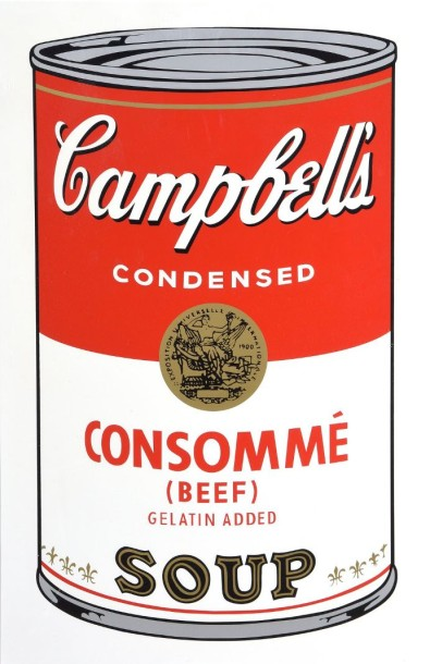 D'après Andy WARHOL (1928-1987)  Campbell soup  Sérigraphie. Edition Sunday B Morning.…