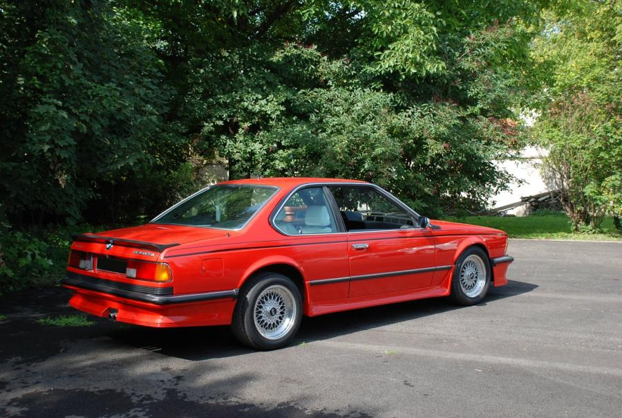 BMW 635 CSI Pack carrosserie M usine – 1986 Pack carrosserie M usine. Rouge vernis…