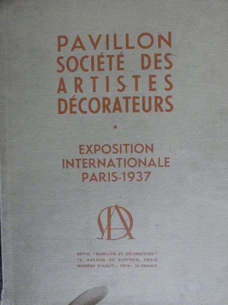 MOBILIER et DECORATION 8 volumes reliés 1924 à 1930. Incomplet. On joint un exemplaire…