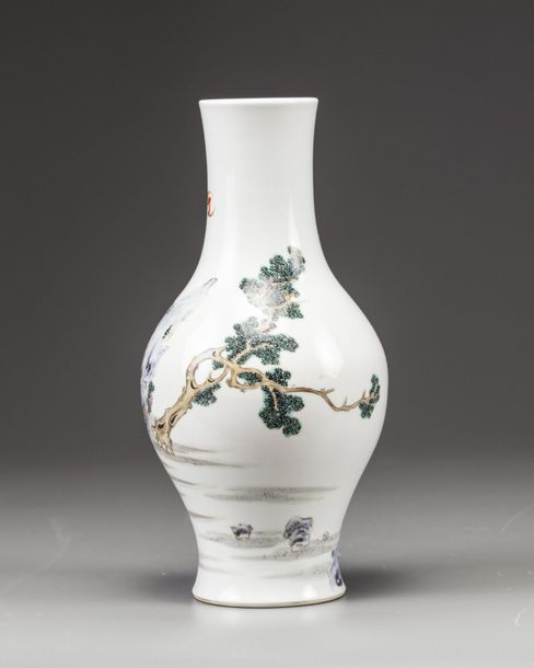 A Chinese famille rose 'Xi Wang Mu' vase The vase is decorated with a continuous…