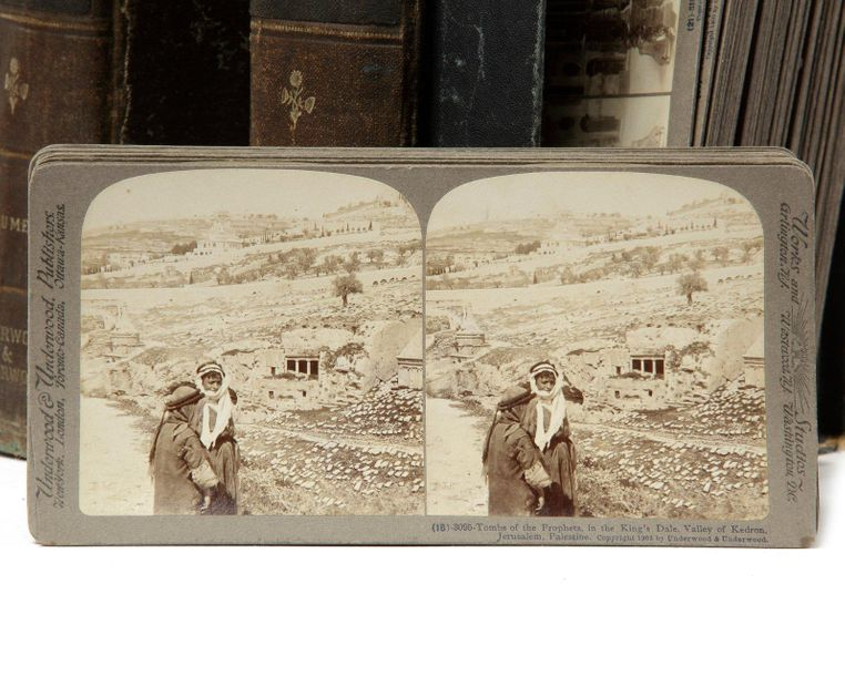 THE UNDERWOOD TRAVEL LIBRARY, PALESTINE 83 numbered & captioned stereoscopic vie…