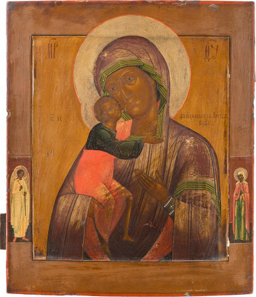 AN ICON SHOWING THE FEODOROVSKAYA MOTHER OF GOD Russian, 19th century Tempera on…