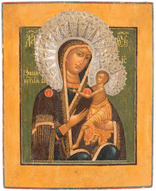 AN ICON SHOWING THE MOTHER OF GOD 'O VSEPYETAYA MATI' (O ALL HYMNED MOTHER) Russ…