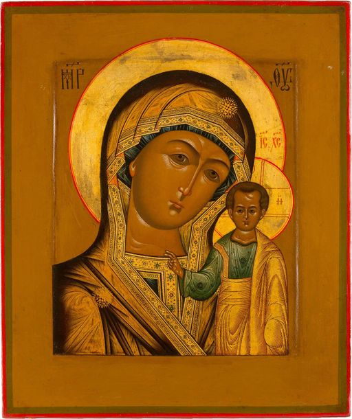 AN ICON SHOWING THE KAZANSKAYA MOTHER OF GOD Russian, Old Believers Workshop, ci…