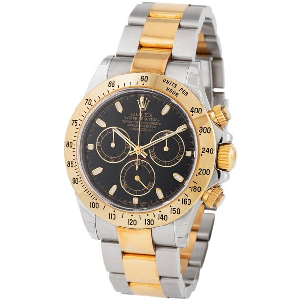Rolex. Rare and Remarkable Daytona Chronograph Wristwatch in Steel and Gold, Ref…