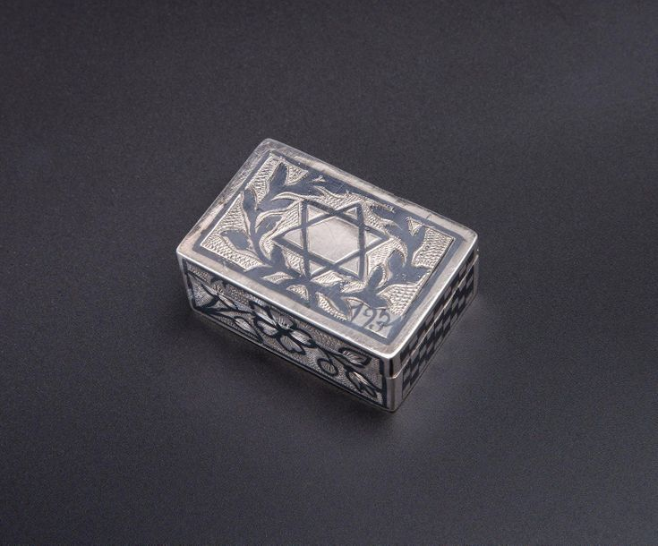 A Silver and Niello Snuff Box, Iraq, 1931 A Silver and Niello Snuff Box, Iraq, 1…