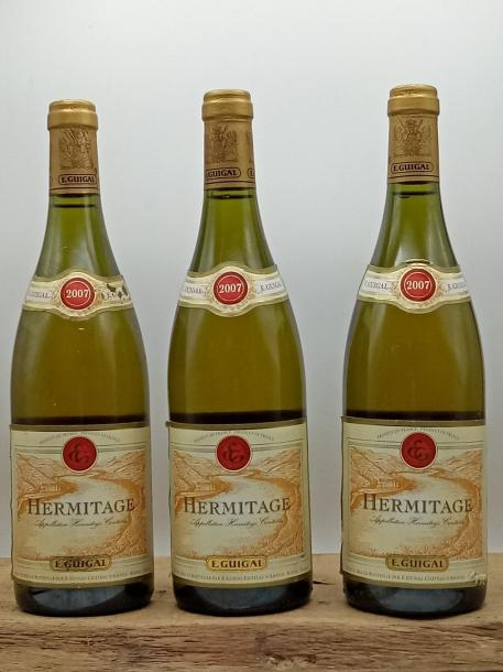 3 bouteilles Hermitage E.Guigal 2007
