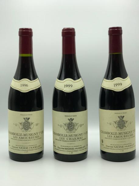 "1 Bouteille Chambolle-Musigny ""Les Amoureuses"" Domaine Moine Hudelot 1996  1 Bouteille…"