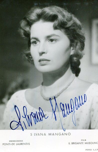 ITALIAN CINEMA: Selection of vintage signed postcard photographs and a few very …