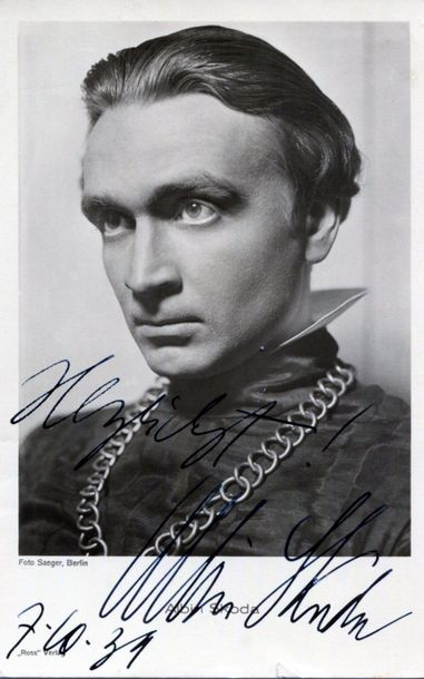 GERMAN CINEMA: Selection of vintage signed Ross postcard photographs by various …